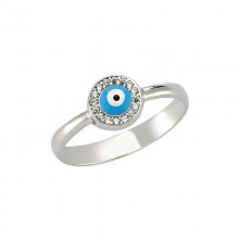 Wholesale Cz Turkish evil eye ring