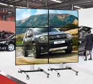 ALLMOUNTS Suport de podea mobil extensibil pentru videowall 1x3