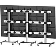 ALLMOUNTS Suport de podea mobil pentru videowall 3x3