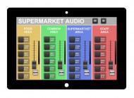 Sistem audio-video (sonorizare ambientala & digital signage) pentru supermarket (600-1000 m²)