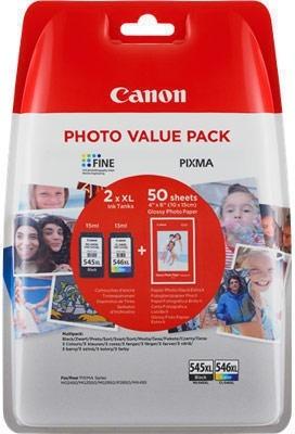 Combo Pack PG-545XL/Cl-546XL (Hartie Foto Gp-501 50 coli) Canon MG2450
