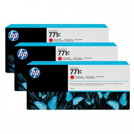 Poze TRIPack Cartus Chromatic Red HP 771C B6Y32A 3X775ml Original HP Designjet Z6200