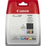 Poze Multipack Cli-551XL C, M, Y, Bk + Photo Paper 10X15 50 Sheet Canon Pixma Ip7250