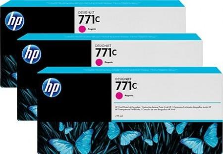 Poze TRIPack Cartus Magenta HP 771C B6Y33A 3X775ml Original HP Designjet Z6200