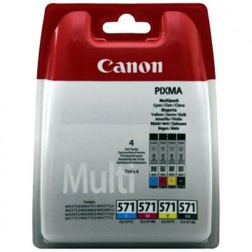 MultiPack 4 x CLI-571 C; M; Y; BK  Canon Pixma MG6850