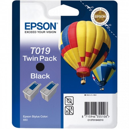 Poze Twin Pack Cartus Black C13T01940210 Epson Stylus Color 880