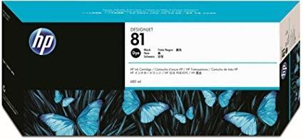 Poze Cartus Black HP 81 C4930A Original HP Designjet 5000,5500