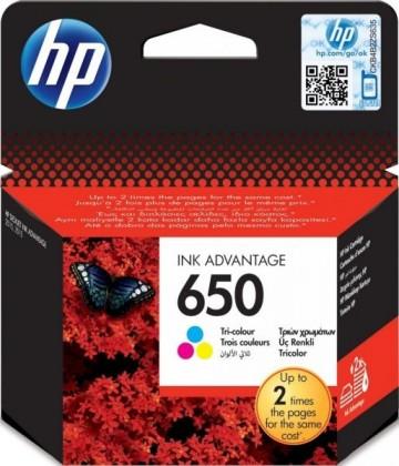 Cartus Color HP 650 CZ102AE Original HP Deskjet 2515 E-AIO