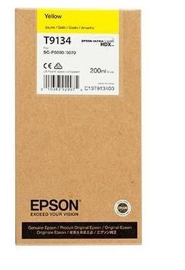 Poze CARTUS YELLOW C13T913400 200ML ORIGINAL EPSON SC-P5000 STD ( T9134 )
