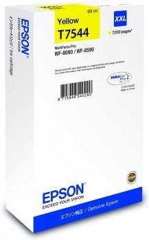 Poze Cartus Yellow XXL T7544 Epson Workforce Pro WF8090/WF8590 ,C13T754440