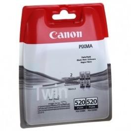 Twin Pack Cartus Black PGI-520BK Canon IP4600