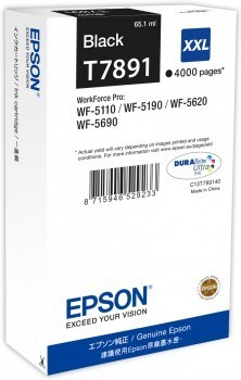 Poze Cartus Black XXL Epson Workforce Pro Wf-5620 ,WP-5190 ,Pro WP-5620 ,C13T789140