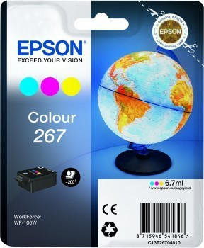 Poze Cartus Color Nr.267 Epson Workforce Wf-100 W (C13T26704010 )