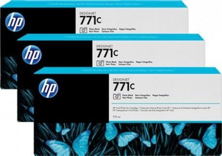 Poze TRIPack Cartus Photo Black HP 771C B6Y37A 3X775ml Original HP Designjet Z6200
