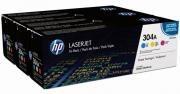 Poze TRIPack CMY CF372AM Cartus Toner HP 304A CC531A/CC532A/CC533A HP Laserjet CP2025