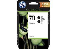 Poze Twin Pack Black HP 711 P2V31A Original HP Designjet T120 ,T520, ( original 0