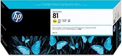Poze Cartus Yellow HP 81 C4933A Original HP Designjet 5000,5500