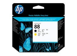 Poze Cap Imprimare Black & Yellow HP 88 C9381A Original HP Officejet Pro K550