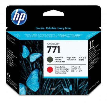 Poze Cap Imprimare Matte Black & ChromaTIC Red HP 771 CE017A , HP Designjet Z6200 , Z6800 , Original