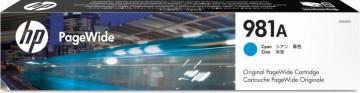 Poze Cartus Cyan PageWide HP 981A J3M68A Original HP PageWide Enterprise 556, 586