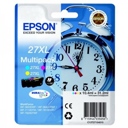 Poze MultiPack CMY Nr.27XL C13T27154012 Epson Workforce WF-7610dwf, WF-7110DTW,WF-7710DWF
