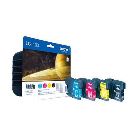Poze MultiPack CMYK LC1100VALBP Brother DCP-385, DCP-395, DCP-585, DCP-6690CW, DCP-J715, MFC-490, MFC-5490, MFC-5895, MFC-6490, MFC-6890, MFC-790