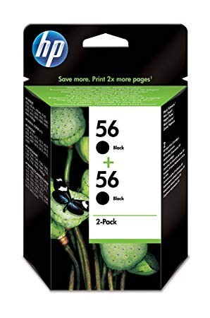 Poze Twin Pack Cartus Black HP 56 C9502AE 2X19ml Original HP Deskjet 450