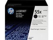Poze Dual Pack Cartus Toner HP 55X CE255XD (2XCE255X) HP Laserjet P3015 ,Enterprise 500 M525