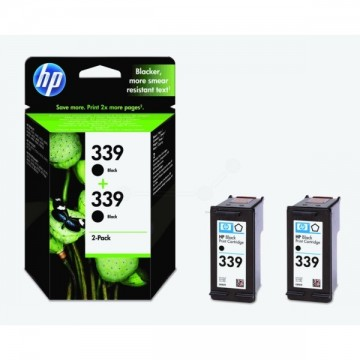 Poze Twin Pack Cartus Black HP 339 C9504EE Original HP Deskjet 6540
