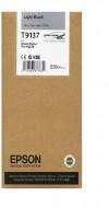 CARTUS LIGHT BLACK C13T913700 200ML ORIGINAL EPSON SC-P5000 STD ( T9137 )