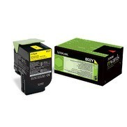 Cartus Toner Yellow Return Nr.802Y 80C20Y0 Lexmark CX310, CX410, CX510