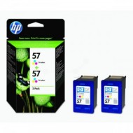 Twin Pack Cartus Color HP 57 C9503AE 2X1 Original HP PhotoSmart 100
