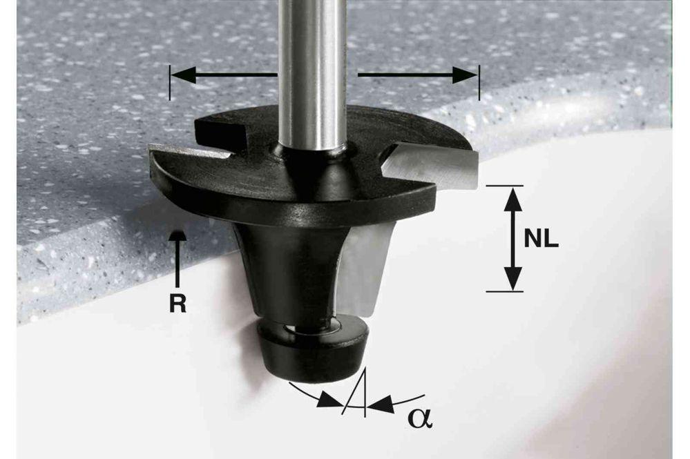 Festool Freză pentru bazine HW R6.35/25/6° ss S12 imagine 2021