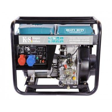 Generator de curent diesel 7.5 kW, KS 9102HDE-1/3 ATSR (Euro 2) – Konner and Sohnen