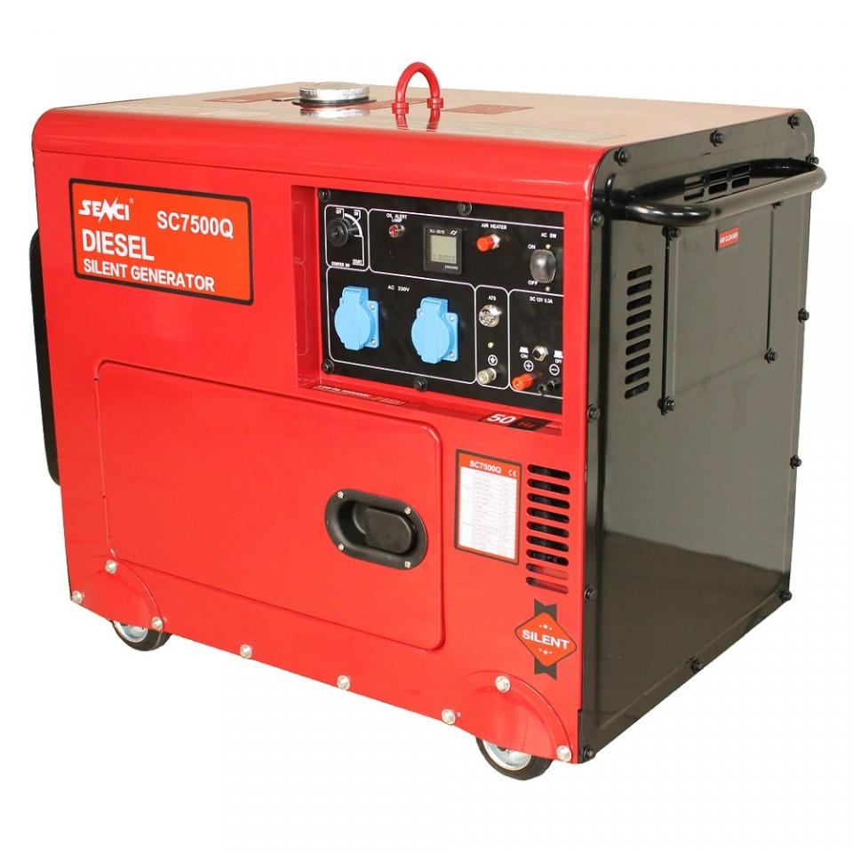 Imagine  Generator De Curent Insonorizat Senci Sc7500q 3 400v 6 Kva
