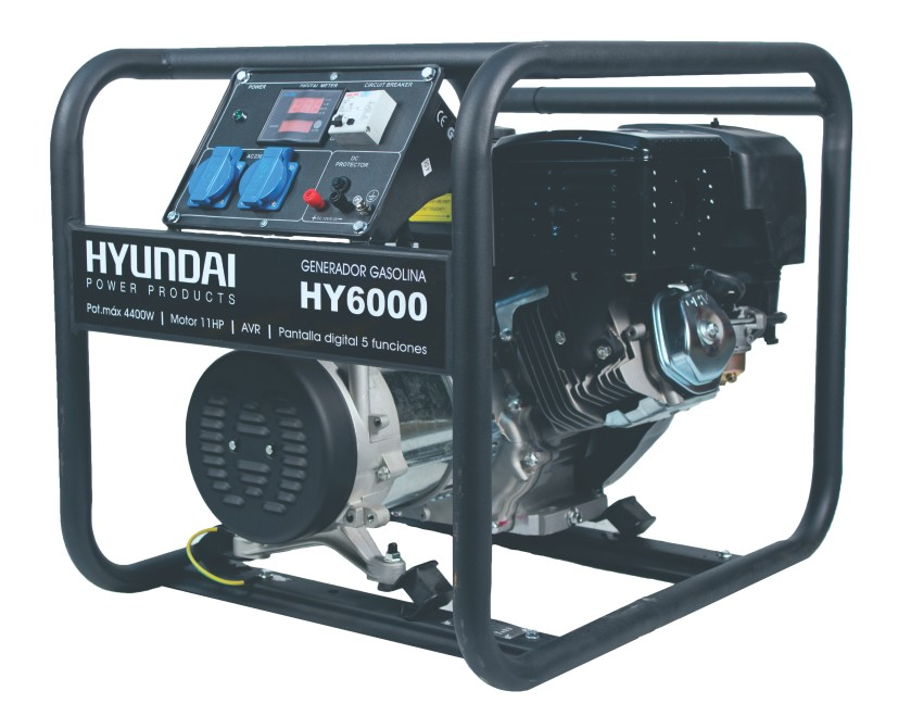 Generator de curent monofazat 5 kVA HYUNDAI HY6000 imagine 2021