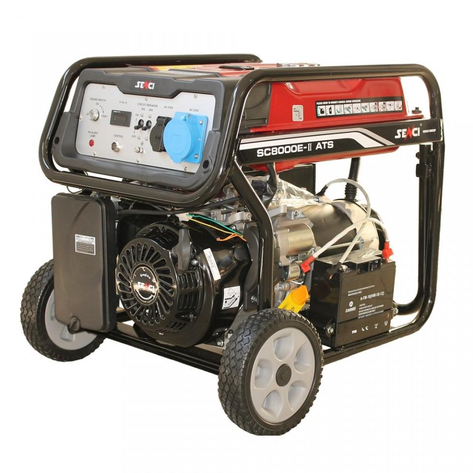 Imagine Generator De Curent Monofazat 7 Kw Senci Sc 8000 Ats