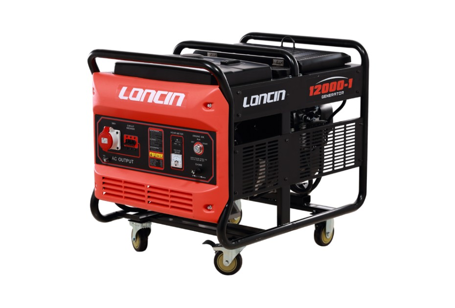 Generator de curent Trifazat Loncin 10 KW LC12000-1 cu baterie imagine 2021