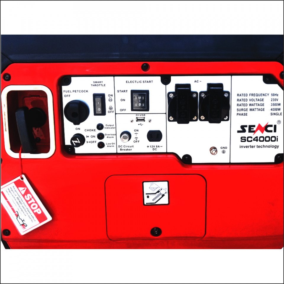 Imagine Generator Inverter Senci Sc 4000i Putere Max. 4.0 Kw 230v Avr