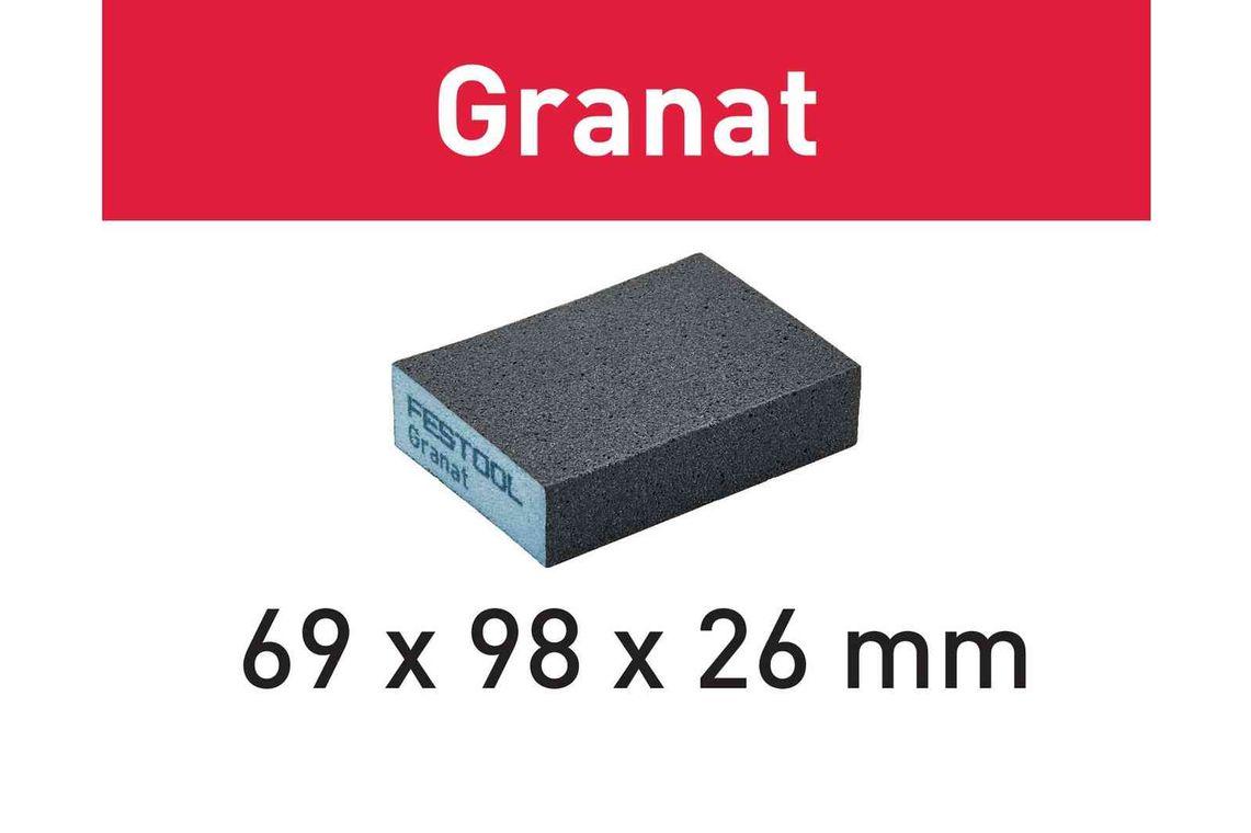 Festool Bloc de şlefuire 69x98x26 36 GR/6 Granat imagine 2021