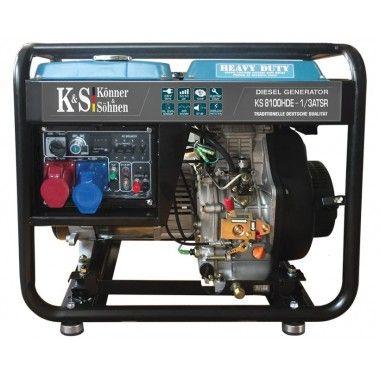Generator de curent diesel 6.5 kW, KS 8100HDE-1/3 ATSR – Konner and Sohnen