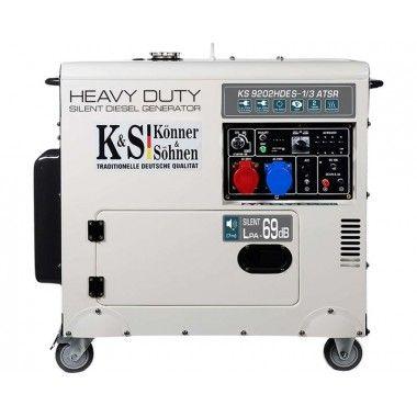 Generator de curent diesel 7.5 kW, KS 9202HDES-1/3 ATSR (Euro 2) – Konner and Sohnen