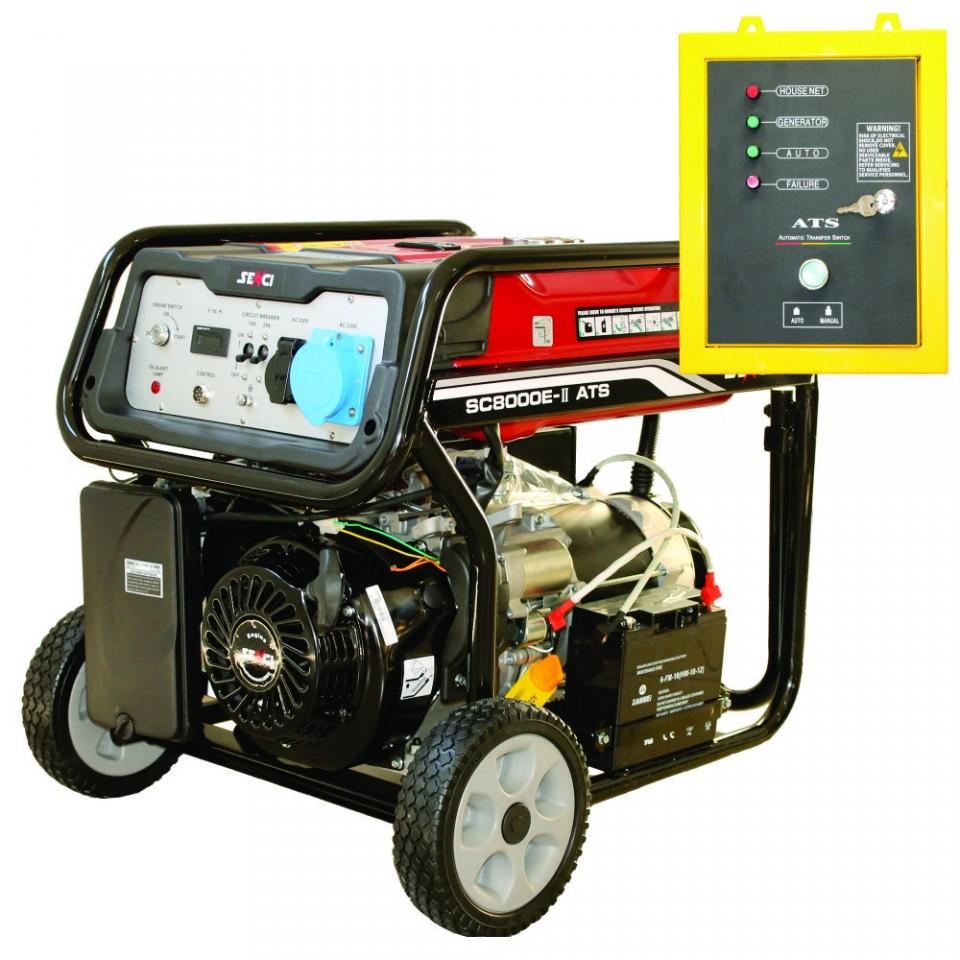 Generator de curent monofazat 7 kW Senci SC 8000 ATS