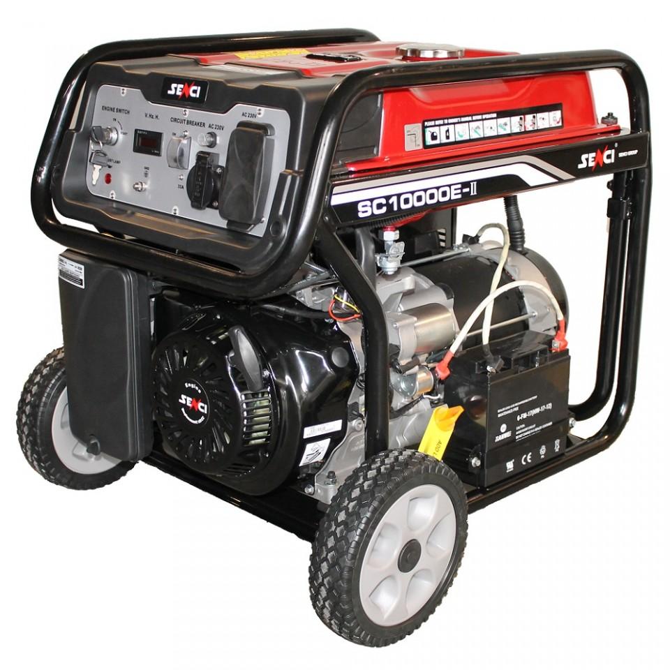 Generator De Curent Senci Sc-10000e  8500w  230v - Avr Inclus  Motor Benzina Cu Demaraj Electric