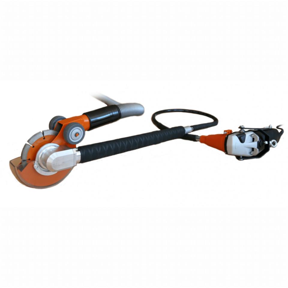 Masina Bisonte Taiat Canale Cabluri Electrice Piranha Cutter