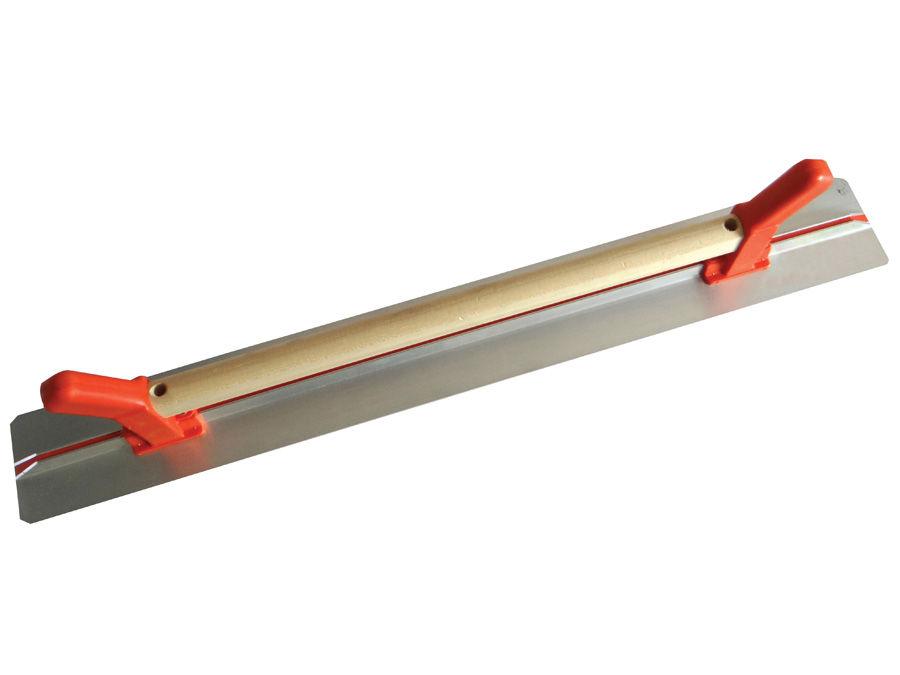 Rigle de tencuire cu laturi netede şi maner de lemn + PVC 1000×100