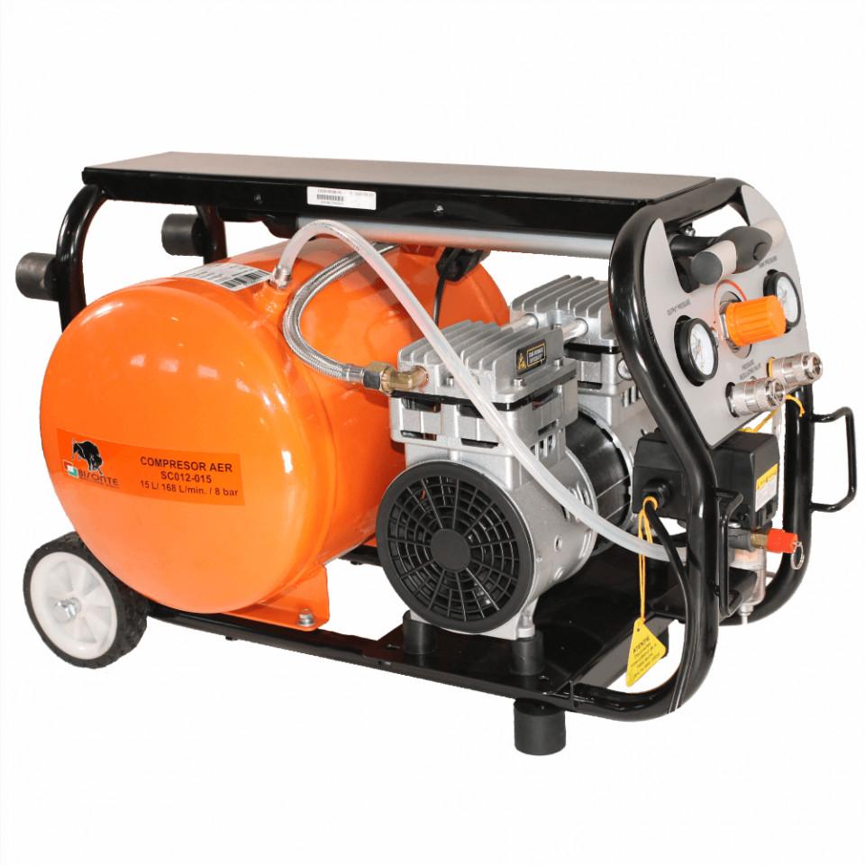 Bisonte compresor de aer fara ulei SC012-015, debit aer 168 l/min., motor 230V imagine 2021