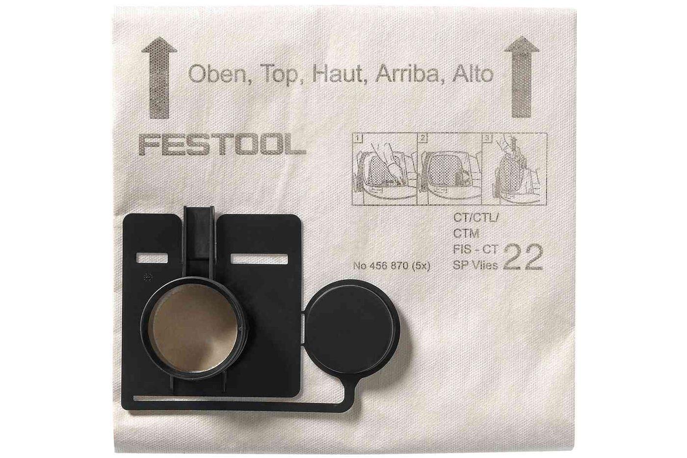 Festool Sac de filtrare FIS-CT 44 SP VLIES/5 imagine 2021