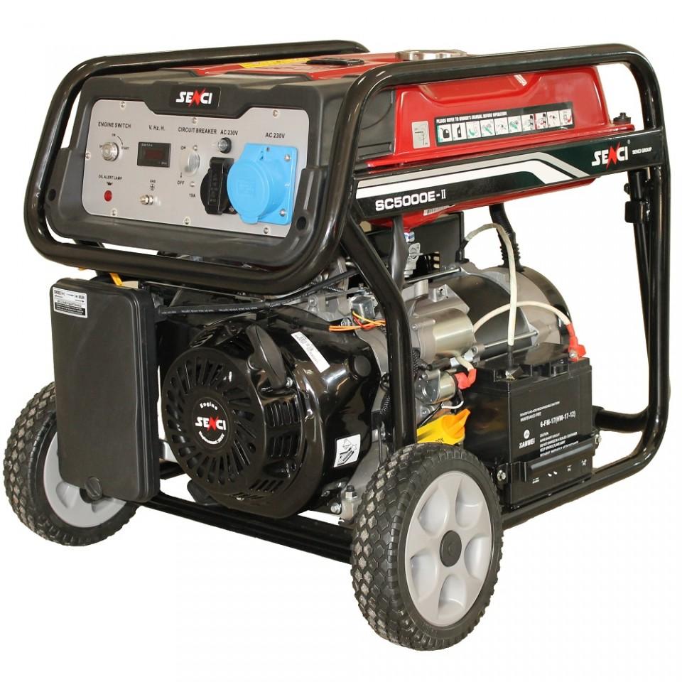 Generator De Curent Senci Sc-5000e  4500w  230v - Avr Inclus  Motor Benzina Cu Demaraj Electric