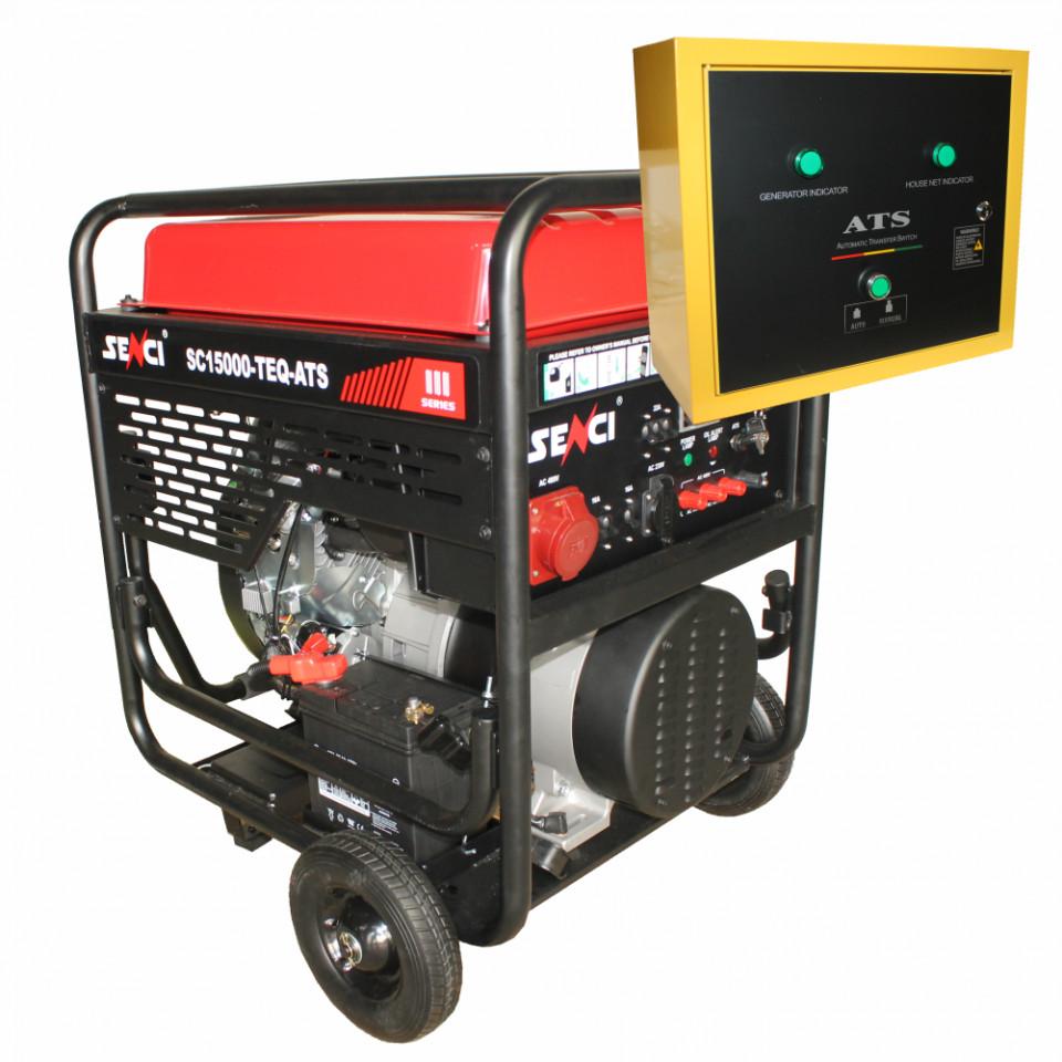 Generator de curent trifazat Senci SC18000TE-ATS Putere max. 17 kW 400V AVR motor benzina imagine 2021